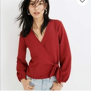 MADEWELL TEXTURE&THRED Wrap Top | Medium